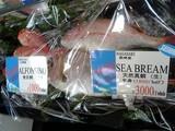 天然真鯛、金目鯛