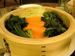 農家のこせがれ野菜メニューから蒸し野菜
