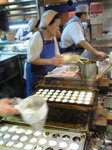 かめやの調理風景@下関シーモール