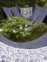 中国藍印花布館前庭風景