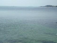 秋谷海水浴場から見える江ノ島