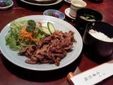 和牛生姜焼定食@今半別館