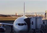 羽田空港から眺めた富士山