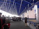 シャトルバス到着@上海浦東国際空港