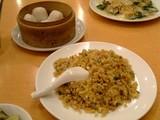 五目炒飯と海老蒸し餃子@福満園本店