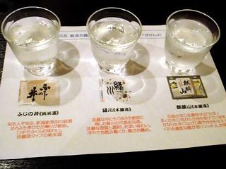 店長厳選日本酒三種