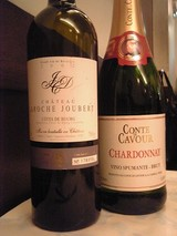 スパークリングワインと赤ワイン@サラファン