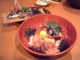 海鮮丼とアジのたたき@快飛