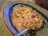 パンチェッタとゴルゴンゾーラチーズのクリームリゾット@マーロウ