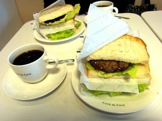 ハンバーガー@Cafe de Crie