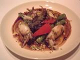 ヤリイカと野菜のニンニクパセリバター炒め@ラベイユ