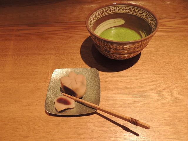上生菓子・抹茶