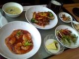 酢豚とエビチリ定食@東天紅