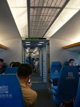 上海リニアモーターカー車内