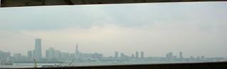 横浜ベイブリッジから眺めるMM21