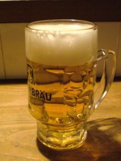 ビールで一休み