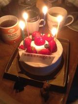 50歳ケーキ点灯
