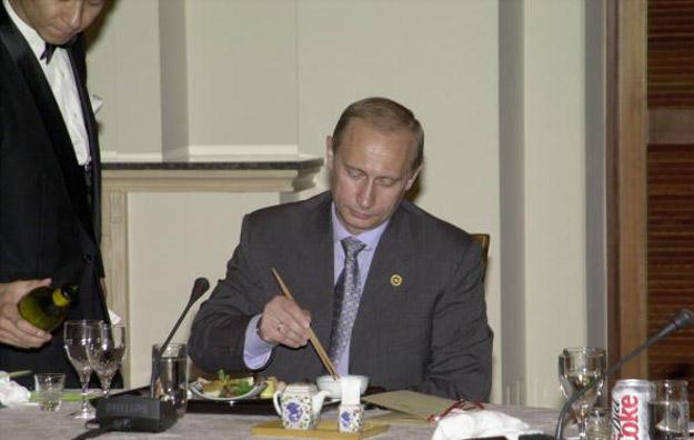 箸を使うとプーチン大統領