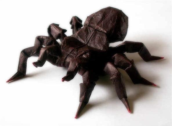 簡単 折り紙 折り紙 蜘蛛 : divulgando.net