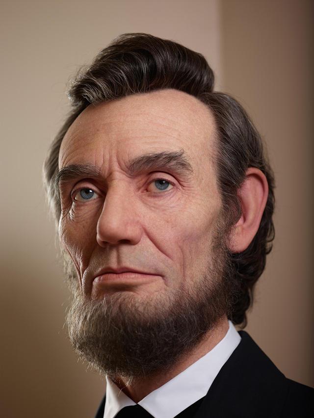 どう見ても生身!リンカーンの胸...
