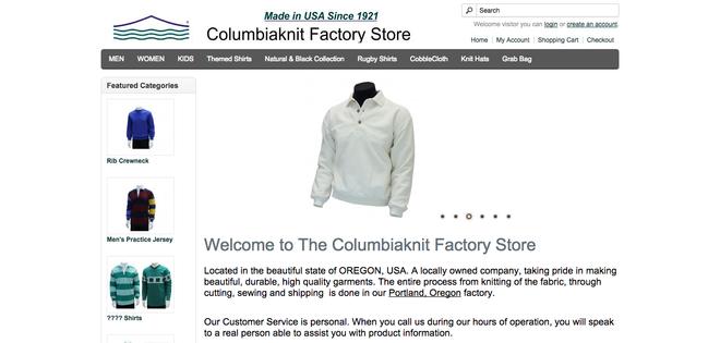 Columbiaknit Factory Store