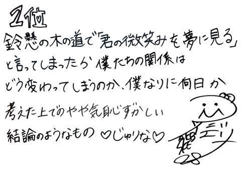 松井珠理奈ランクイン記念Tシャツリクアワ2015