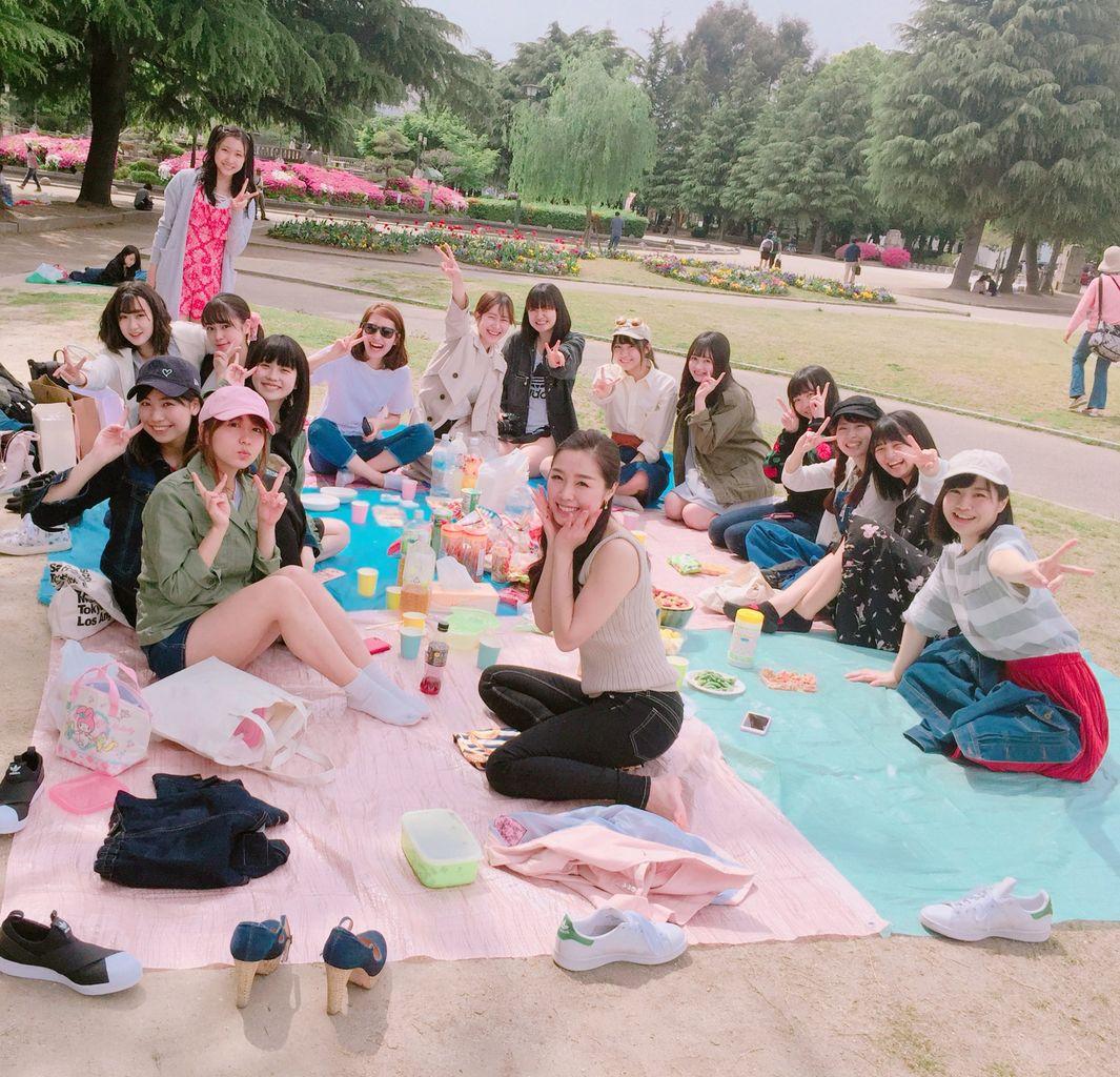【エンタメ画像】SKEチームK2メンバーのピクニックが楽しそう♪