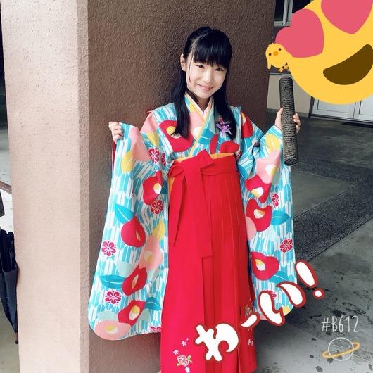 倉島杏実「小学校卒業しました!はかまをきましたよ」