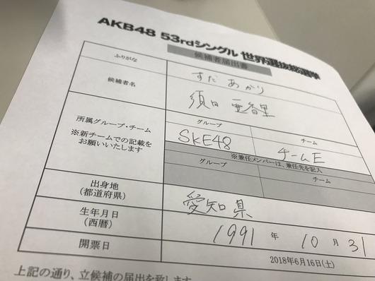 """須田亜香里「今年は図々しさもパワーアップして""""1位になってみたい""""そう思ってしまいました!美少女を争うなら100位も無理、でも・・」"""