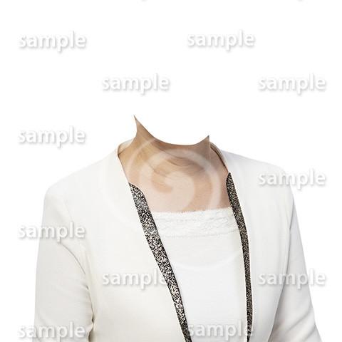 C116-遺影素材-女性白の着せ替え