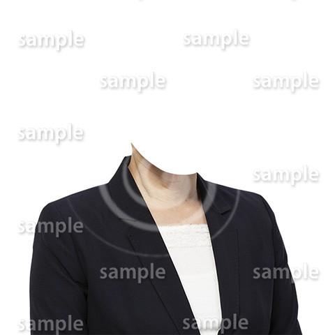 C062-遺影素材-女性黒の着せ替え