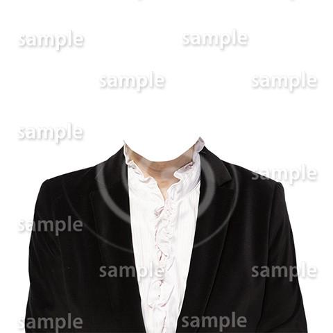 C076-遺影素材-女性黒の着せ替え