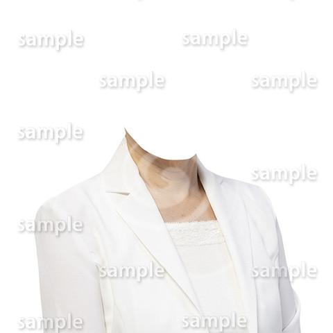 C098-遺影素材-女性白の着せ替え