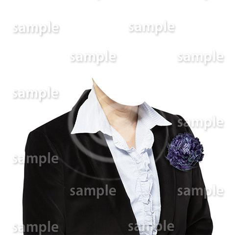 C086-遺影素材-女性黒の着せ替え