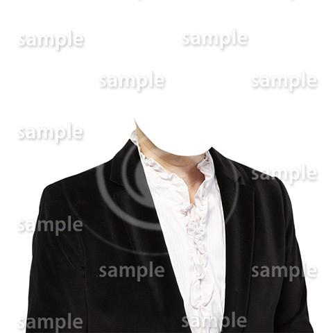 C077-遺影素材-女性黒の着せ替え
