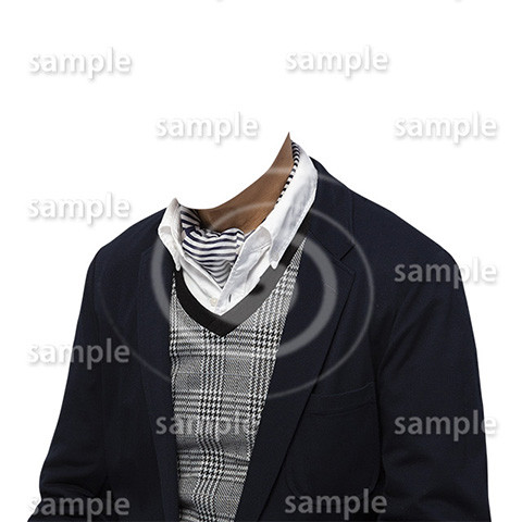 C013-男性ジャケット-遺影素材着せ替え