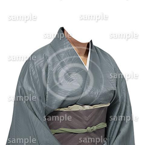 B185kimono-cutout-遺影作成