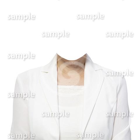C097-遺影素材-女性白の着せ替え