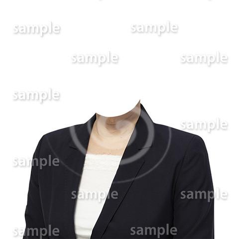 C060-遺影素材-女性黒の着せ替え