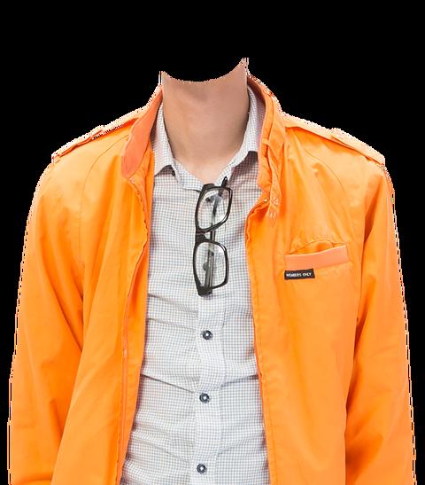 オレンジ上着着せ替え素材