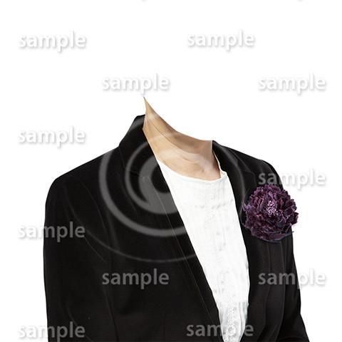 C080-遺影素材-女性黒の着せ替え