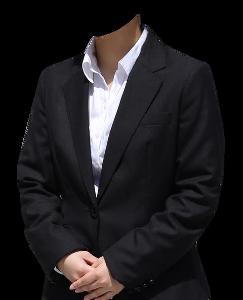遺影素材無料着せ替え黒スーツ女性コラ