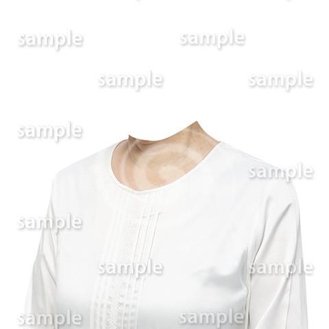 C105-遺影素材-女性白の着せ替え