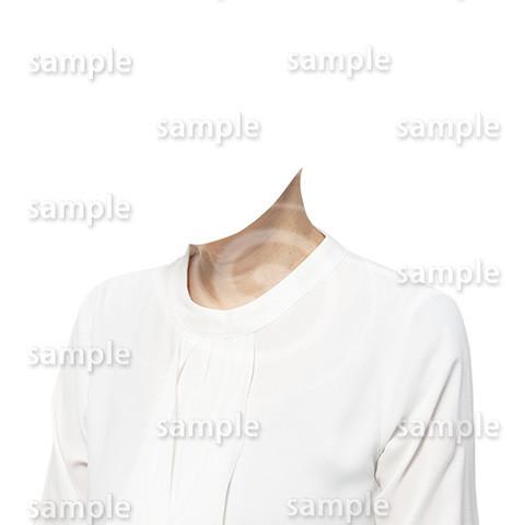 C102-遺影素材-女性白の着せ替え