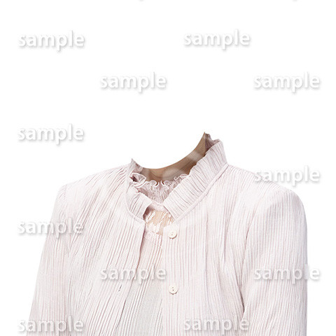C124-遺影素材-女性ピンク着せ替え