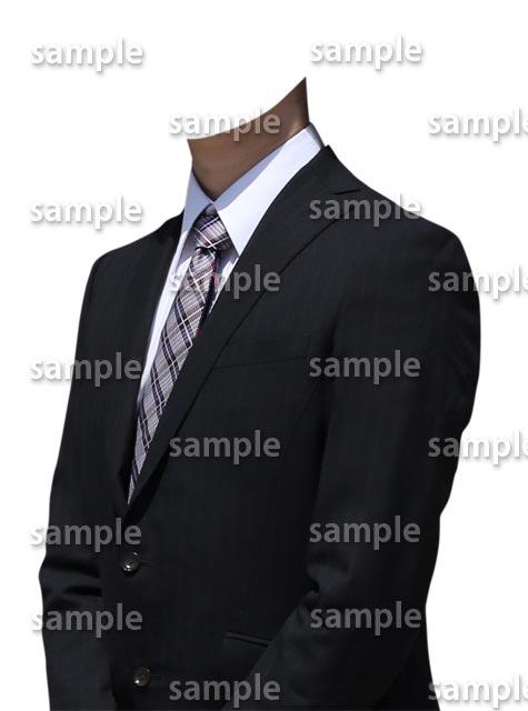 遺影素材スーツ着せ替え斜め