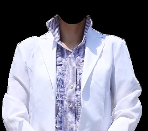 無料遺影着せ替え素材白ジャケット女性コラ