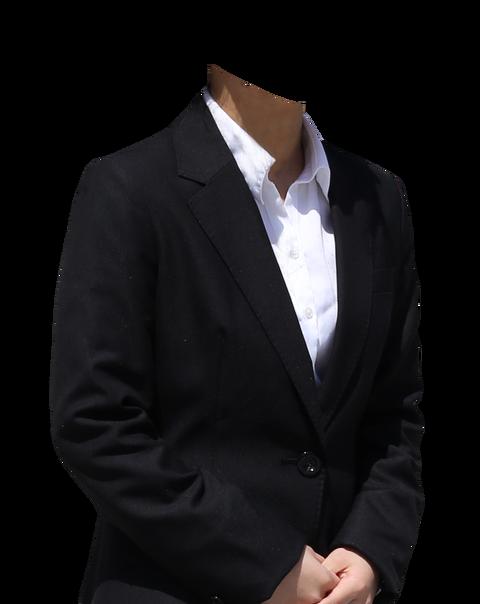 黒スーツ女性着せ替え