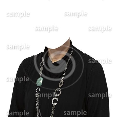 C057-遺影素材-女性黒の着せ替え