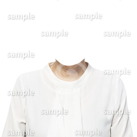 C103-遺影素材-女性白の着せ替え